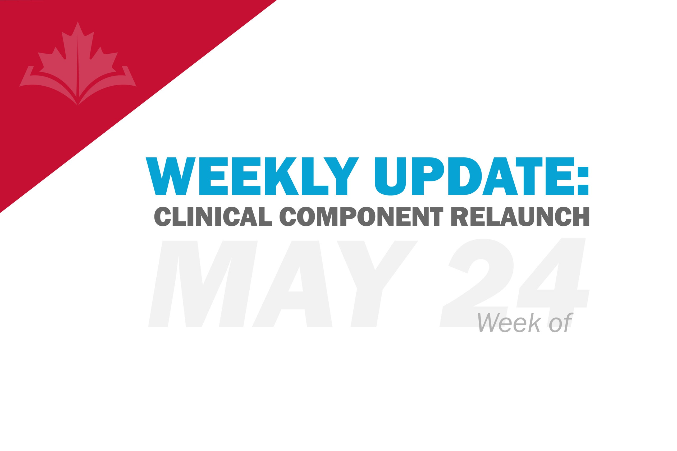 Weekly Clinical Component Update: Week of May 24