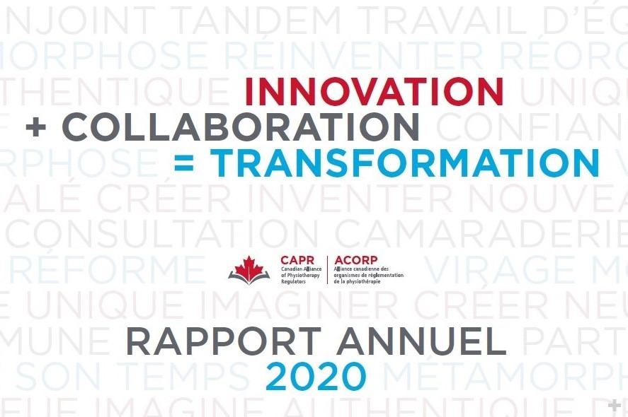 Publication du rapport annuel de l'ACORP de 2020