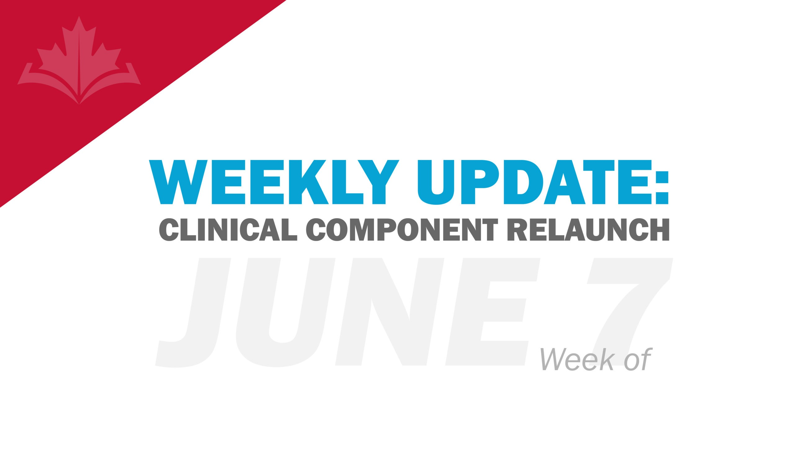 Clinical Component Update: Week of June 7