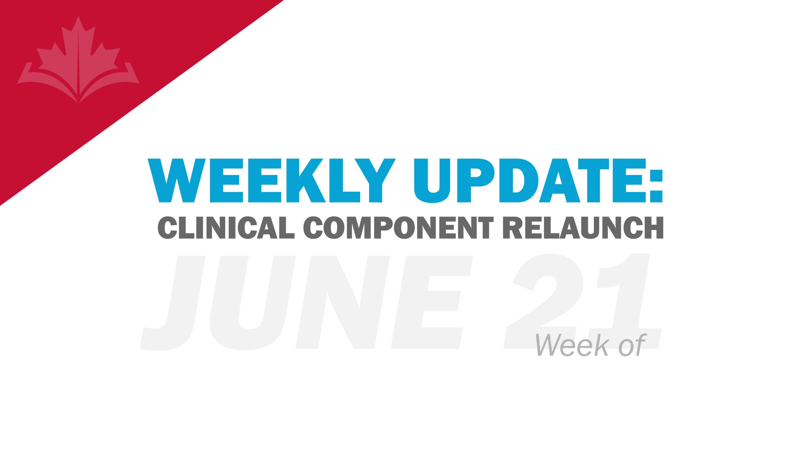 Clinical Component Update: Week of June 21